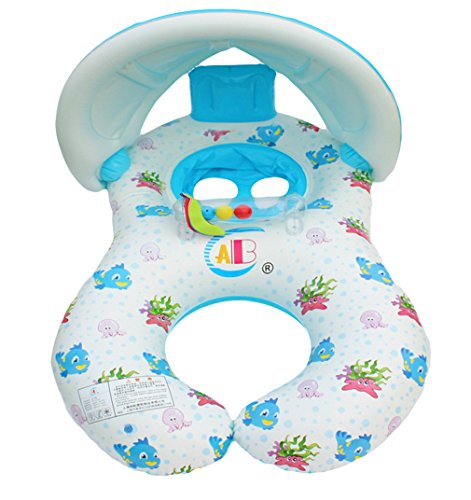 Amazon.com: La Vogue Mommy and Baby Inflatable Baby Pool Float ...