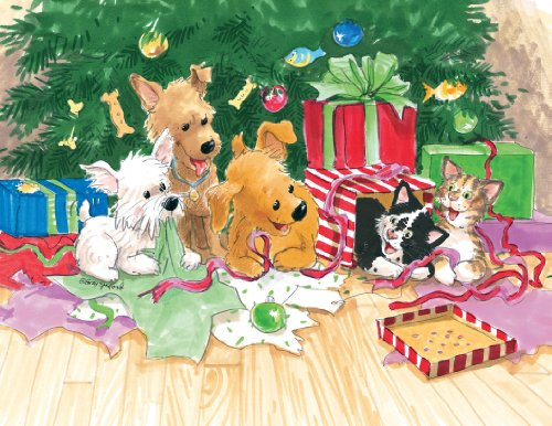 (Suzy's Note Card Collection Stationery, Puppies & Kitties Christmas - 10890)