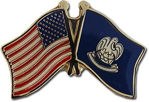(Wholesale Pack of 12 USA American State Louisiana Flag Bike Hat Cap lapel Pin)
