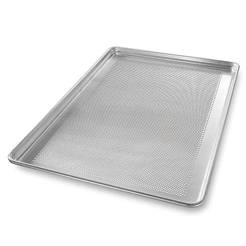 "Chicago Metallic 44891 Full-size Sheet Pan, StayFlat, 1"" Deep, Perforated, Non-coated 18-ga. Aluminum"