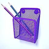 purple fridge - Ozzptuu Magnetic Sturdy Metal Mesh Pencil Holder Storage Basket Organizer for Whiteboard/Refrigerator/Magnetic Surface (Purple)