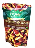6 Packs of Salted Broad Beans, Deliicious Homemade Nut Snack From Pele Brand, Selected Quality From Natural Ingredients. (No Trans Fat, No Cholesterol) (110g/ Pack)