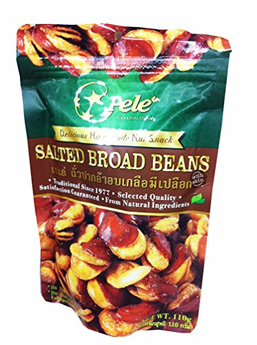 6 Packs of Salted Broad Beans, Deliicious Homemade Nut Snack From Pele Brand, Selected Quality From Natural Ingredients. (No Trans Fat, No Cholesterol) (110g/ Pack) - Womens Halloween Costume Ideas Homemade