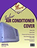 Indoor Vinyl Window Air Conditioner Cover w Elastic Edges (Clear Plastic)