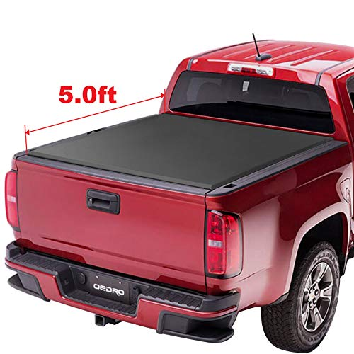 oEdRo TRI-FOLD Truck Bed Tonneau Cover Compatible with 2015-2019 Chevy Colorado/GMC Canyon   Fleetside 5' Bed