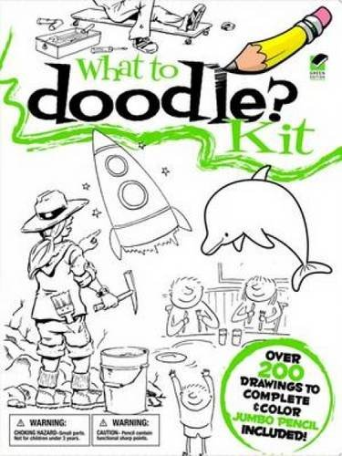 What to Doodle? Kit (Dover Fun Kits) (English and English Edition) (Fun Dover Kits)
