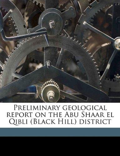 Preliminary geological report on the Abu Shaar el Qibli (Black Hill) district pdf