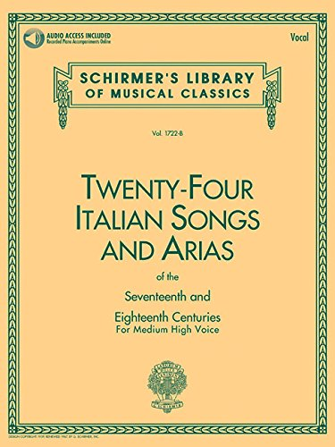 (24 Italian Songs and Arias: Medium High Voice (Book, Vocal)