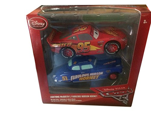 Cars 3 Diecast Cars TwinPack Lightning Mcqueen and Fab Hudson Hornet Scale 1.43