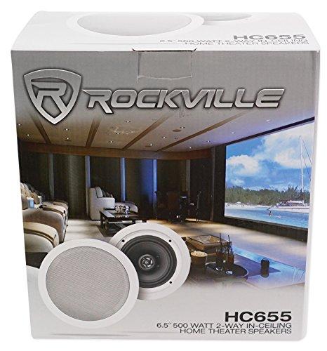 Rockville 500 Watt In-Ceiling Home Theater Ohm