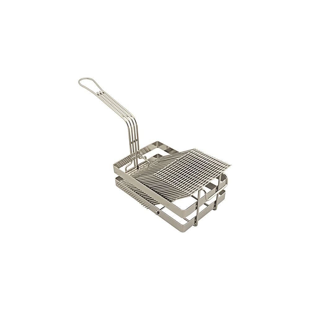 FMP 226-1062 Nickel / Chrome-Plated 18 Slot Tostada Basket