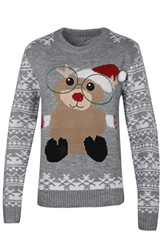 Pink Queen Unisex Ugly Christmas Xmas Pullover Sweater Jumper Squirrel L -