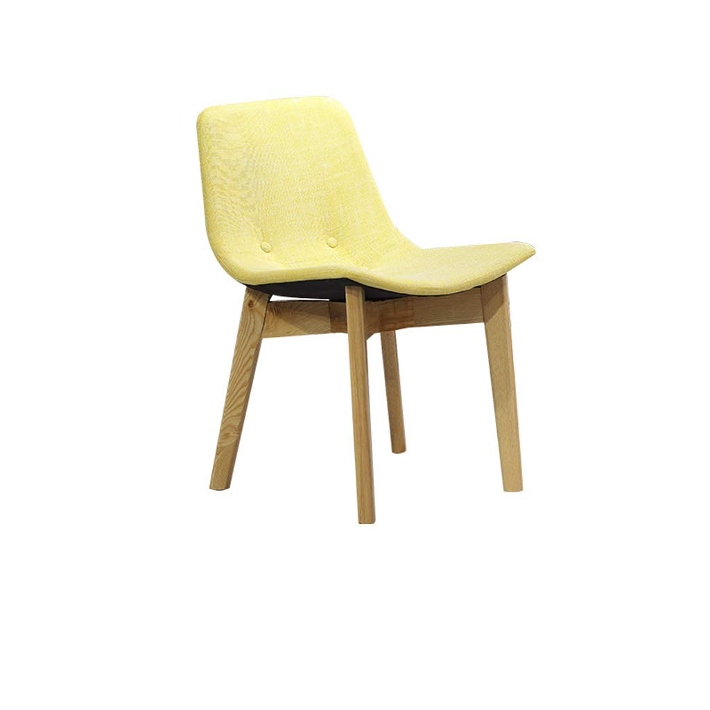 Yellow SYFO Chair Cafe Dinette Dessert Shop Negotiation Chair Reception Chair Simple Solid Wood Chair Four colors Stool (color   Green)