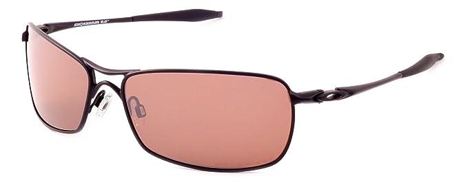 2ca2ac4752 ... discount oakley crosshair 2.0 wire frame metal sunglasses in matte black  polarized vr28 brown iridium 35688