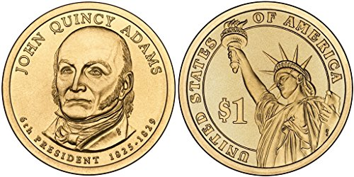John Quincy Adams Dollar Coin (2008 P John Quincy Adams, 25-coin Bankroll of Presidential Dollars Uncirculated)