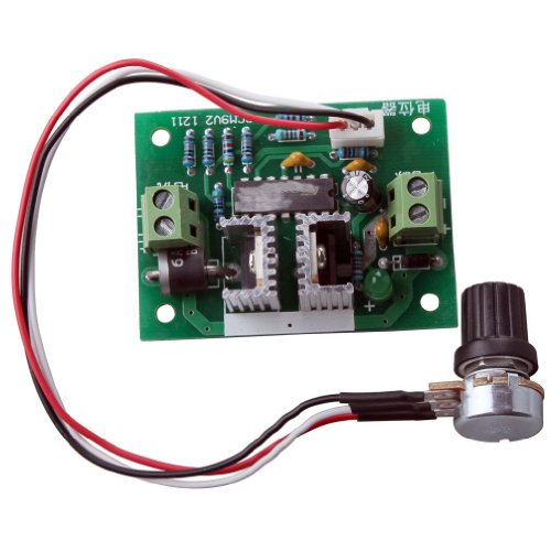 RioRand Upgraded RRCCM9SPC 12V-24V 3A DC Motor Speed Controller PWM Controller One-way Speed - Governors Square