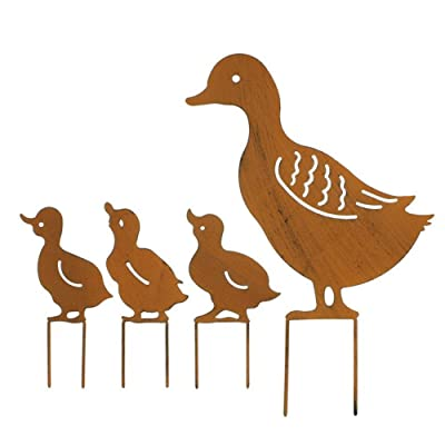 Garden s 4pcs Iron European Ducks Home Wedding Retro Decoration Inserted Party Rusty Lawn Cute: Home Improvement