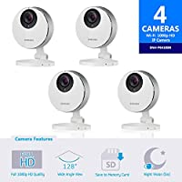 Samsung SmartCam HD Pro SNH-P6410BN Full HD 1080p WiFi Camera Bundle Quad Pack