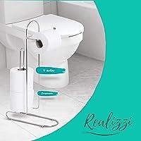 Porta Papel Higiênico P/chão Papeleiro Banheiro Suporte Rolo Premium Lançamento 4 Rolos Envio Imediato