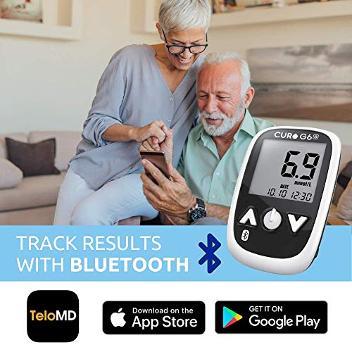 CURO G6s Glucose Bluetooth Home Test Kit – Blood Sugar Monitor Device and Included Set of 50 Strips (Limited TIME Promotional Offer) 51iZdP 2BShVL