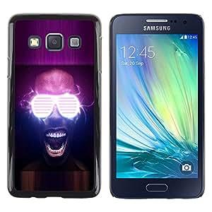 Shell-Star Arte & diseño plástico duro Fundas Cover Cubre Hard Case Cover para Samsung Galaxy A3 / SM-A300 ( Neon Glow Party Glasses )