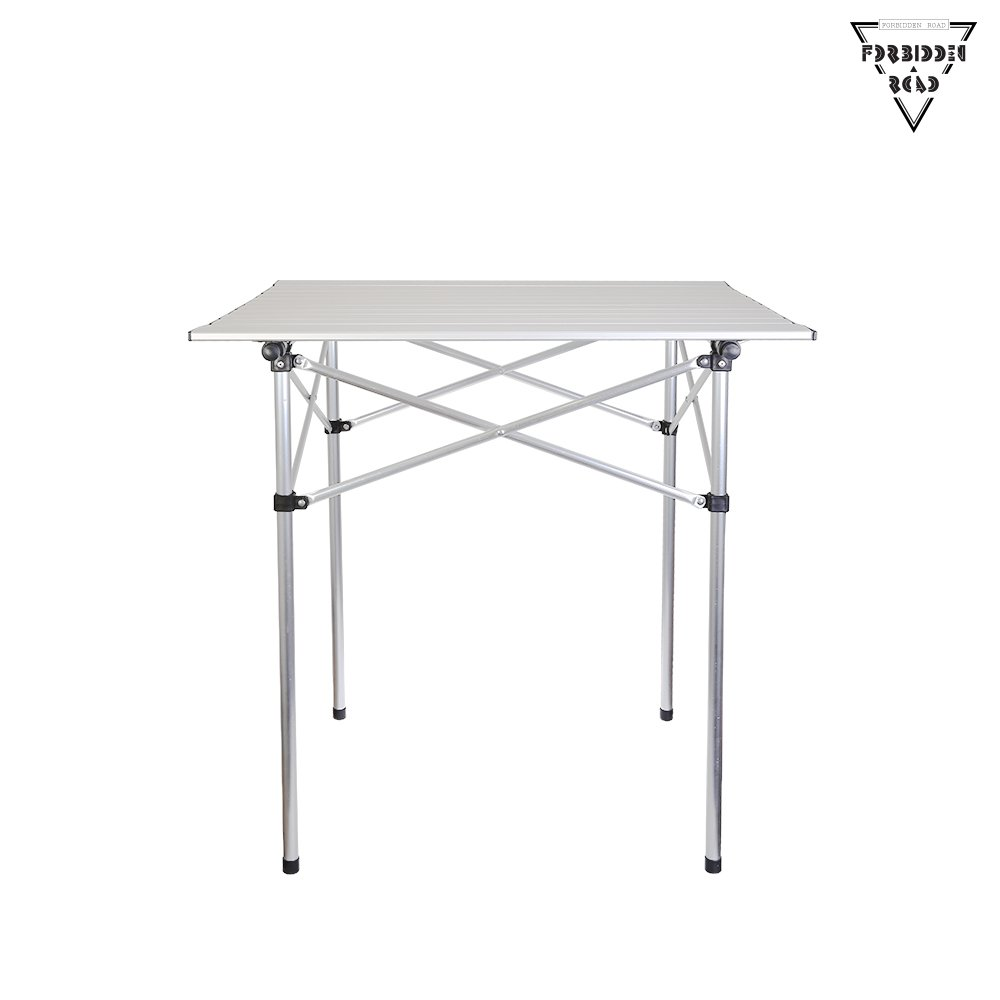 Forbidden Road Aluminum Folding Camping Table Lightweight Portable Picnic Table with Carry Bag Stable Durable Easy Set up for Patio Garden BBQ Beach Fishing Outdoor & Indoor - Silver by Forbidden Road (Image #9)