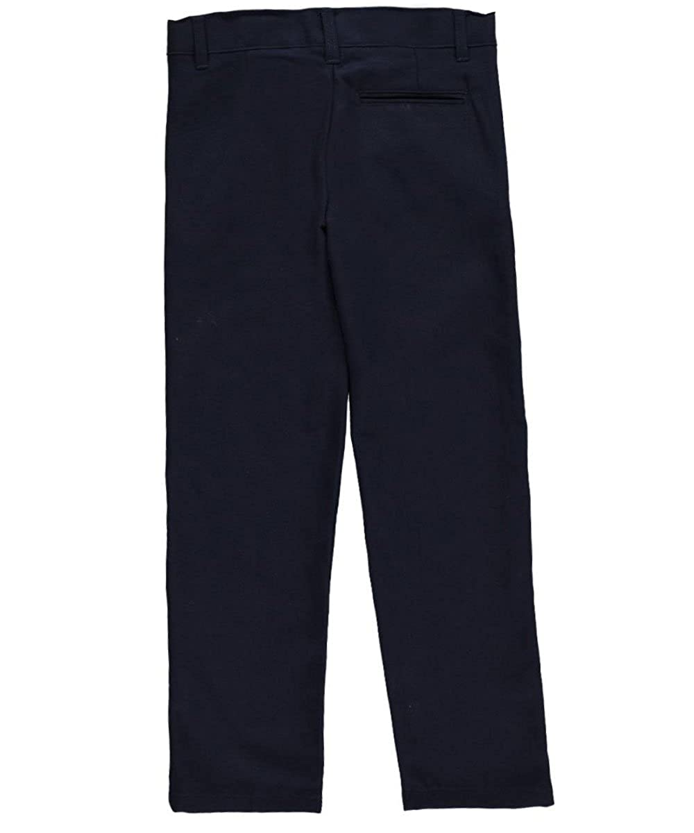 French Toast Big Boys Flannel Flat Front Pants 10 Navy