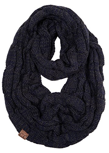 S1-6800-3170 Funky Junque Infinity Scarf - Navy/Charcoal (#26)
