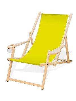 Chaise En Pliable Et Avec Longue Bois Accoudoirs Porte Gobelet 5A3RjL4q