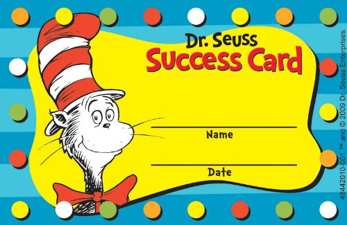 Eureka Dr. Seuss Cat in the Hat Reward Punch Cards, Package of 36 (844201)