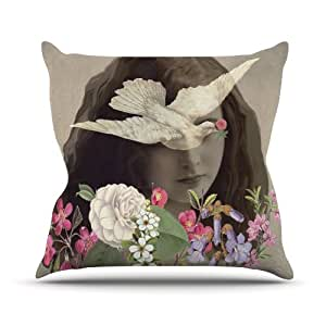 """Kess InHouse Suzanne Carter """"Doves Eyes"""" Outdoor Throw Pillow, 20 by 20-Inch"""