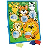 Jungle Animal Kids Beanbag Toss Game-Great For Zoo Themed Parties