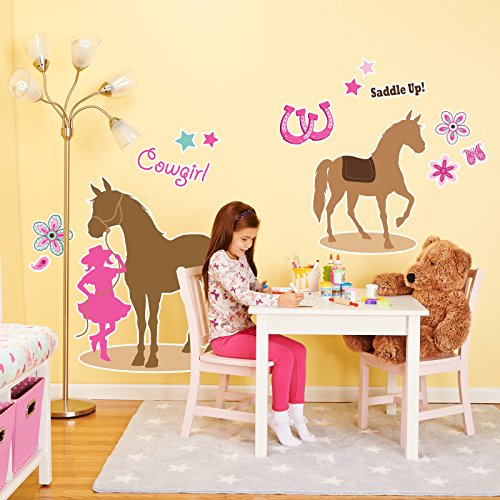 BirthdayExpress Western Cowgirl Party Decorations - Giant Vinyl Wall Decal -
