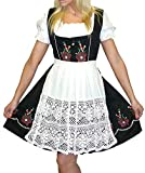 Dirndl Trachten Haus 3-Piece Short German Wear Party Oktoberfest Dress 10 40 Black