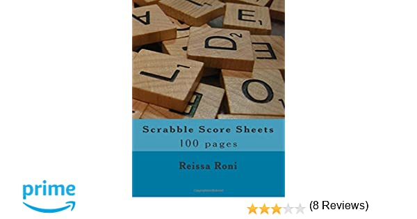 Scrabble Scoresheet Book 400 Pages 200 sheets