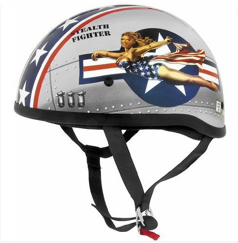 (Skid Lid Helmets Original Pin Up Helmet , Size: Lg, Distinct Name: Bomber Pin Up, Helmet Category: Street, Primary Color: Red, Helmet Type: Half Helmets, Gender: Mens/Unisex 646953)