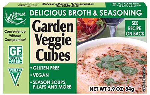Edward & Sons Garden Veggie Bouillon Cubes, 2.9-Ounce Boxes (Pack of (Veggie Bouillon Cubes)