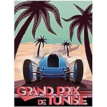 Sport Advert Motor Racing Grand Prix 1933 Tunisia Poster Print