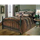 Hillsdale Furniture 1141BQR Willow Bed Set with Rails, Queen, Textured Black