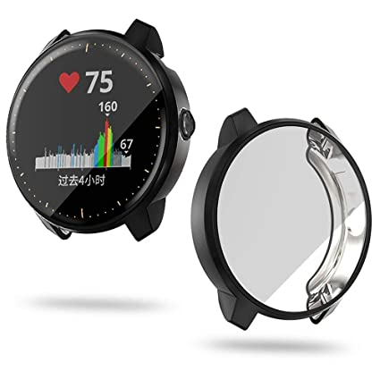Protector Case Compatible with Garmin Vivoactive 3 Music Watch,Soft Screen Full Cover Lightweight Bumper Thin TPU Shell Accessories for ...