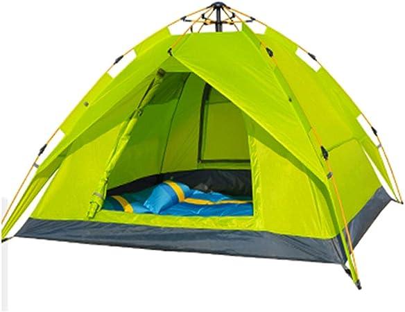 Tiendas Campaña, Camping Montaña Camping Exterior Prueba De Tormentas Espacio Grande, Capacidad para 3-4 Personas, Verde: Amazon.es: Hogar