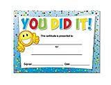 'You did it!' Award certificates - 16 x A6 card awards, Schools,Teachers, kids