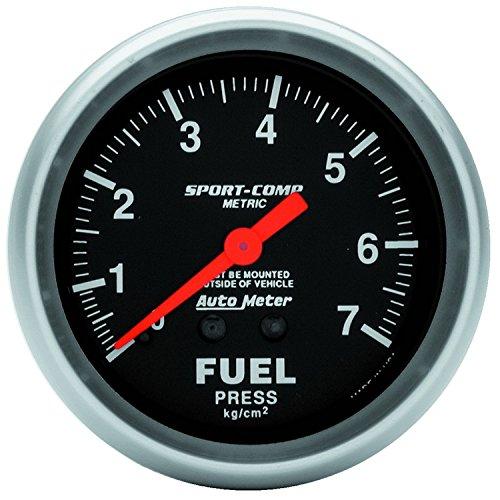 Auto Meter 3412-J Sport-Comp Mechanical Metric Fuel Pressure Gauge