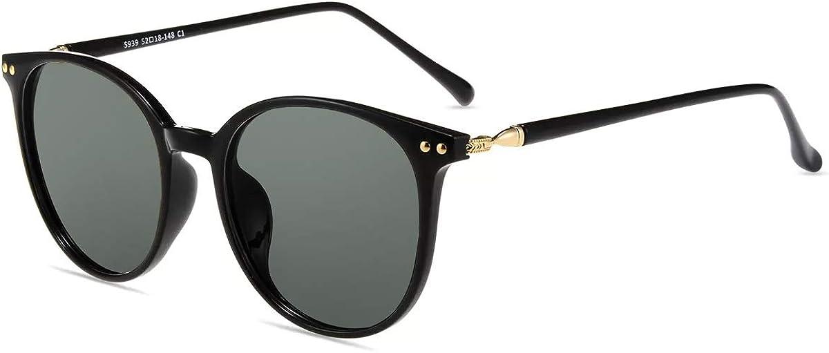 Sonnenbrille Blendschutz mit Polarisierten Gl/äsern,TR90 Brillegestelle Firmoo Polarisierte Sonnenbrille Damen Herren Retro Gro/ße Runde UV Schutzbrille