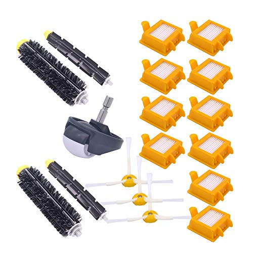 (SODIAL for Roomba Bristle Spare Parts Set Flexible Percussion Side Brush Hepa Filter for Roomba 700 Series Vacuum Cleaner Accessories)