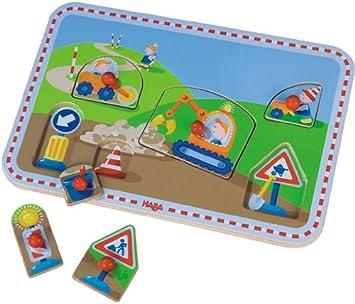 Puzzles & Geduldspiele HABA Greifpuzzle Auf der Baustelle