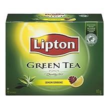Lipton Green Tea Lemon Ginseng Tea Bags 72 Count