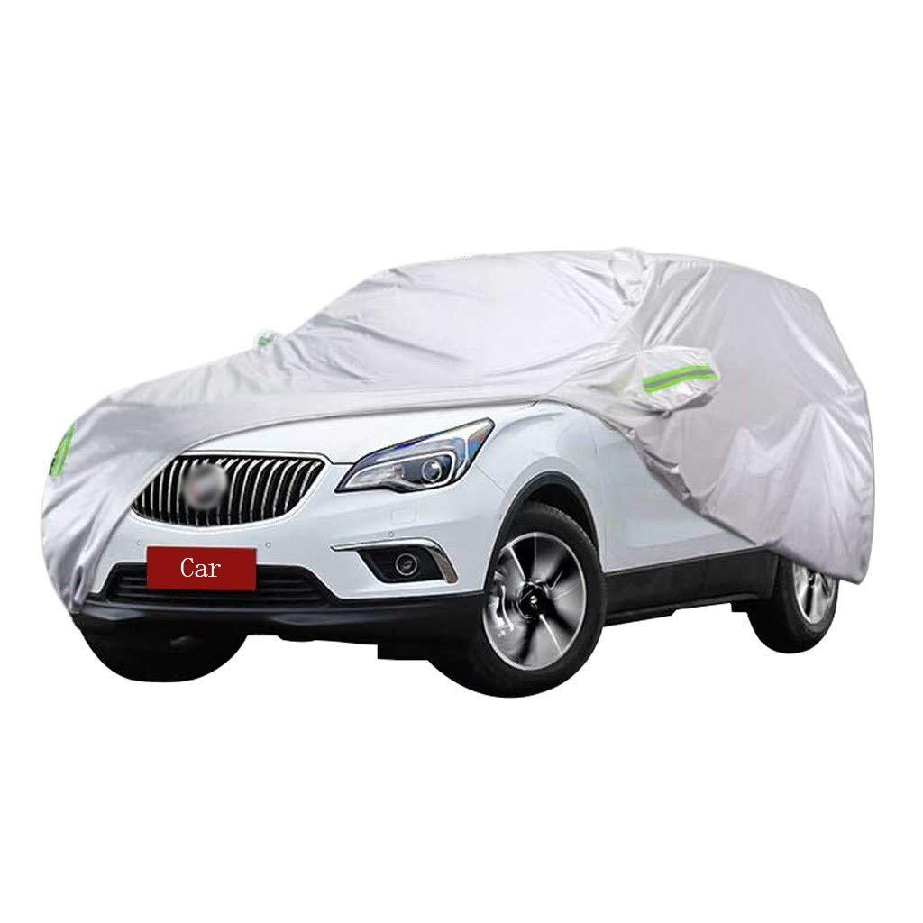 Cubierta de coche Compatible con Buick Envision SUV Cubierta del coche Ropa de Oxford gruesa de protección solar Protección solar Cubierta de lluvia y polvo Cubierta del coche (color : La Plata)