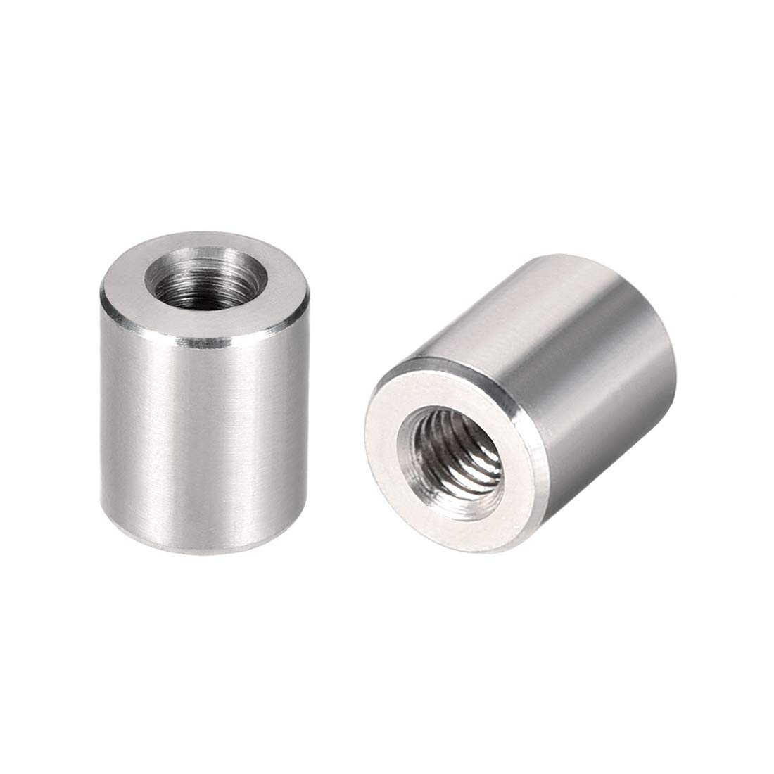 M5x12mm Height Sleeve Rod bar Stud Nut Stainless Steel 304 uxcell Round Connector Nuts Pack of 10
