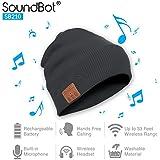Soundbot SB210 HD Stereo Bluetooth 4.1 Wireless Smart Beanie Headset Musical Knit Headphone Speaker Hat Speakerphone Cap,built-in Mic (Gry)